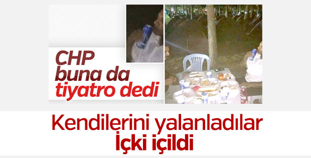 CHP: Kamp alanında içki içildi