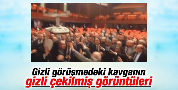 Meclis'teki kavganın videosu