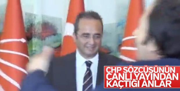 CHP'li Bülent Tezcan'ın panik anları