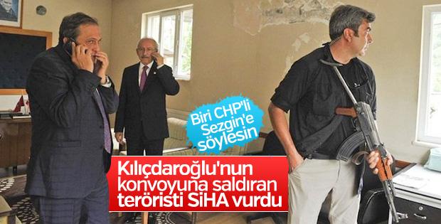 Kılıçdaroğlu'nun konvoyuna saldıran teröristi SİHA vurdu