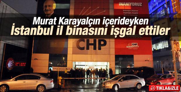 CHP İstanbul İl Binası işgal edildi