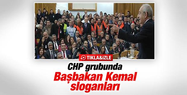 Kılıçdaroğlu'nun grup toplantısında Başbakan sloganı atıldı