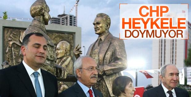 Kılıçdaroğlu heykel açılışı yaptı