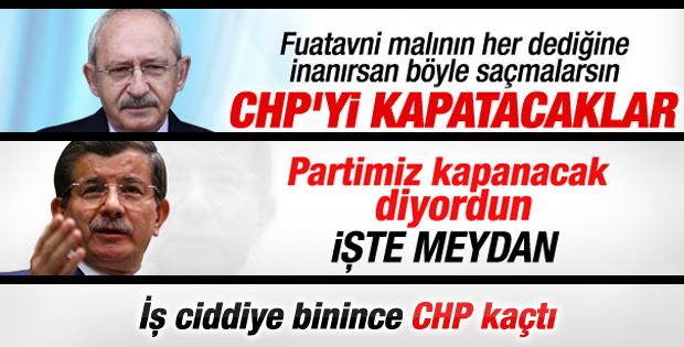 CHP'den parti kapatılmasının engellemesine destek yok