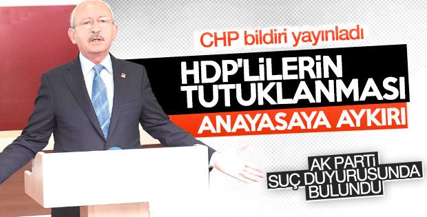 CHP, PM bildirisini yayınladı