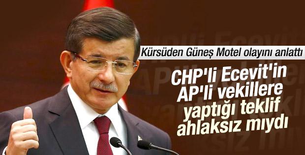 Başbakan Davutoğlu: Güneş Motel olayı CHP ürünüdür