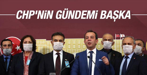 Meclis'te maskeli basın toplantısı