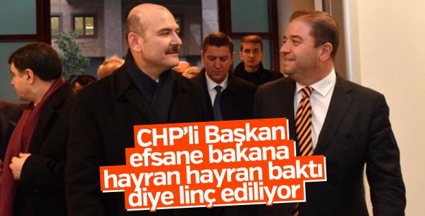 CHP'li Belediye Başkanı Soylu'yla fotoğraf paylaştı