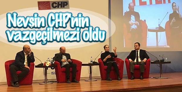 Nevşin Mengü CHP etkinliklerini kaçırmıyor