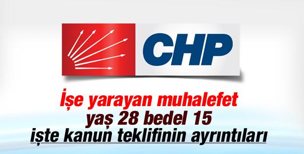 CHP'den bedelli askerlik için kanun teklifi