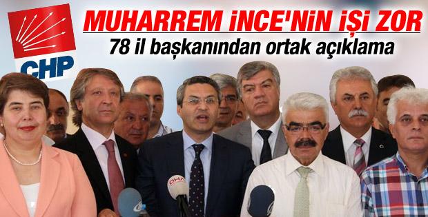 CHP 78 il başkanı Kılıçdaroğlu'nu destekliyor İZLE