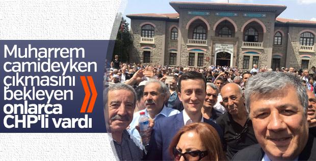 CHP'liler Muharrem İnce'nin camiden çıkmasını bekledi