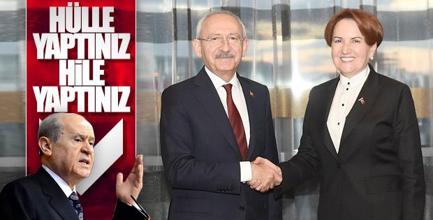 Devlet Bahçeli CHP-İYİ Parti ittifakını değerlendirdi