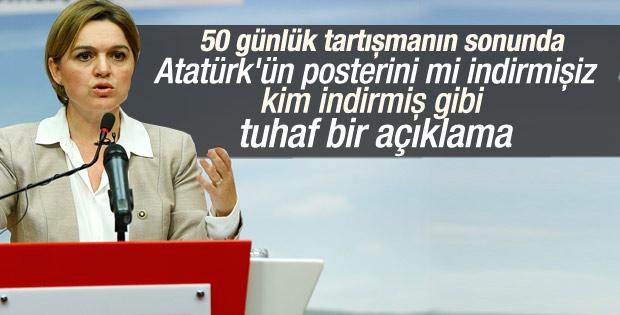 CHP Sözcüsü: Atatürk posteri indirilmedi