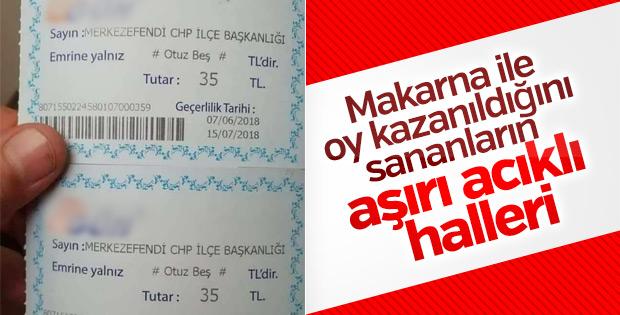 CHP Denizli'de alışveriş çekiyle oy toplamaya çalışıyor