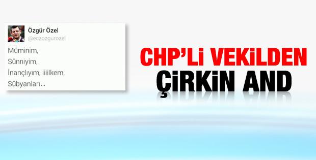 CHP'li vekilden tepki çeken andımız tweet'i