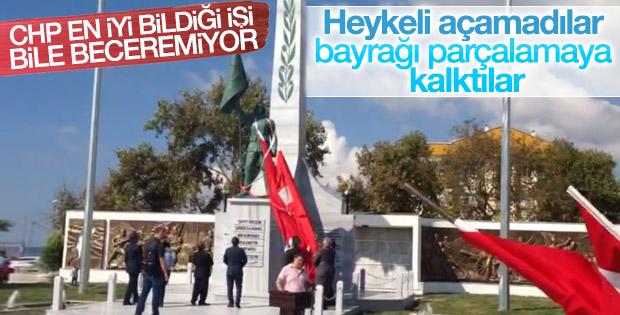 CHP'li belediye heykeli açmakta zorlandı