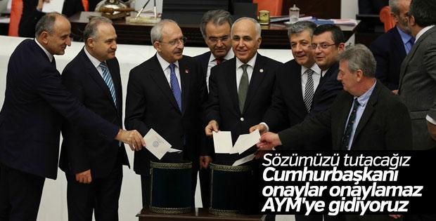 CHP Anayasa değişikliğini AYM'ye taşıyor