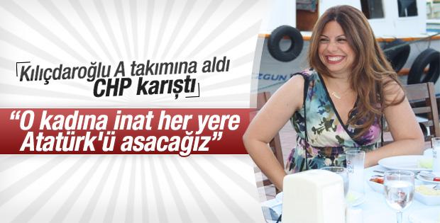 Atatürk'ü indiren CHP'li MYK'da