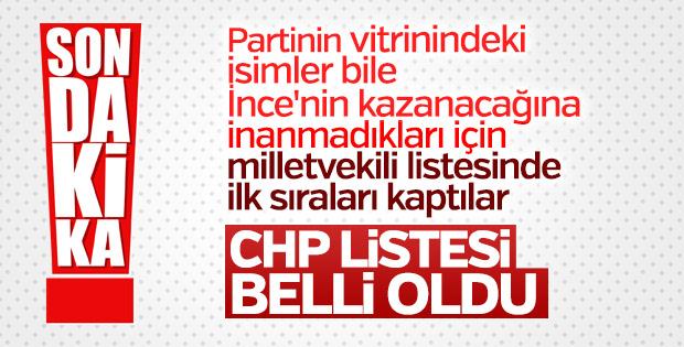 CHP'nin milletvekili listesi açıklandı