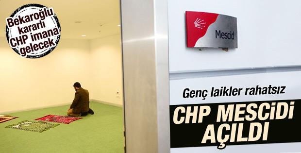 CHP Genel Merkez binasına mescid açıldı