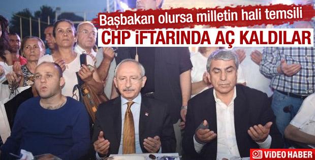 CHP'nin iftarında vatandaşlar aç kaldı