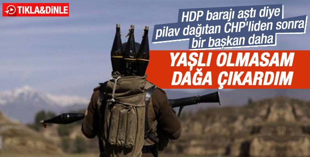Silvan CHP İlçe Başkanı: Yaşlı olmasam dağa çıkardım