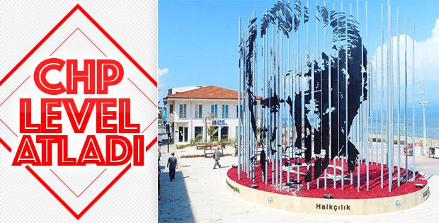 Mudanya'ya 360 dereceden görünen Atatürk silüeti
