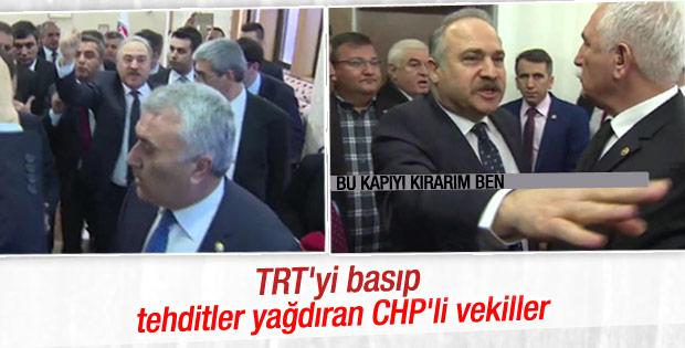 CHP'li milletvekilleri TRT'yi bastı