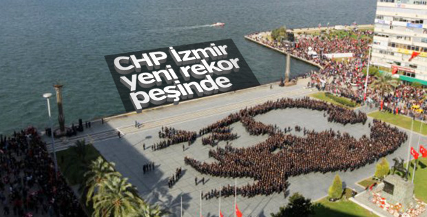 İzmir'de 3 bin kişi kalpaklı Atatürk portresi oluşturacak