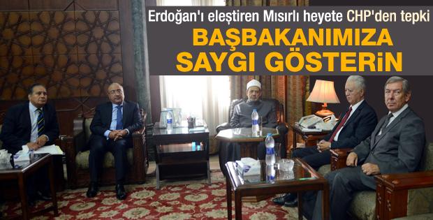 CHP heyeti Başbakan Erdoğan'a Mısır'da sahip çıktı