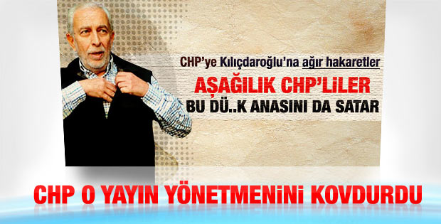 Kılıçdaroğlu'na hakaret Sözcü'de kelle aldı