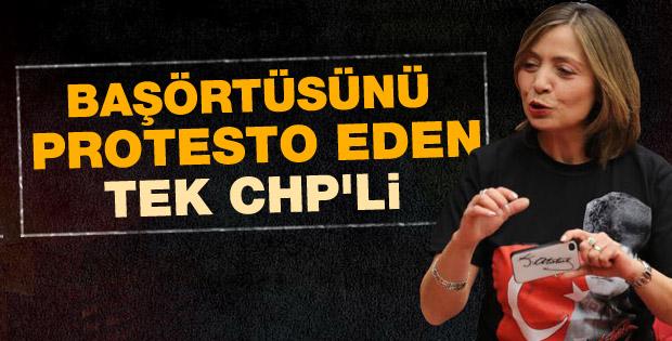 CHP'li kadın vekil tişörtlü tepki gösterdi