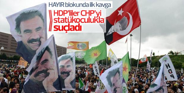 HDP'den CHP'nin Hayır kampanyasına ilk tepki