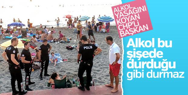 CHP'li başkandan plajda içki tartışmalarına cevap