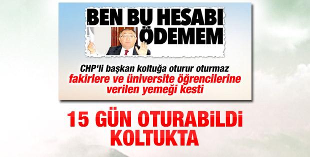 CHP'li Vefa Salman'ın başkanlığı 15 gün sürdü