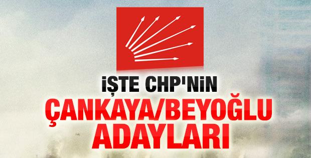 CHP'nin Çankaya ve Beyoğlu adayları
