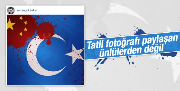 Şahan Gökbakar Doğu Türkistan'a özgürlük istedi