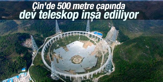 Çin'de dünyanın en büyük teleskobu inşa ediliyor