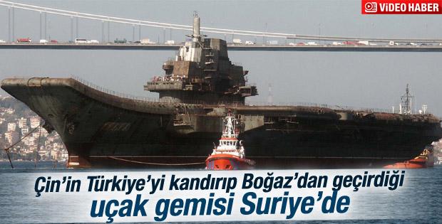 Çin'in İstanbul Boğazı'ndan geçirdiği uçak gemisi Suriye'de