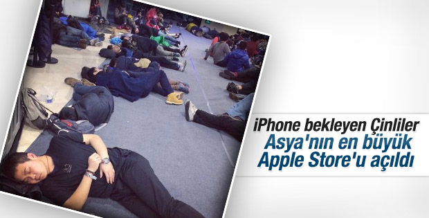 Asya'nın en büyük Apple Store'u Çin'de açıldı