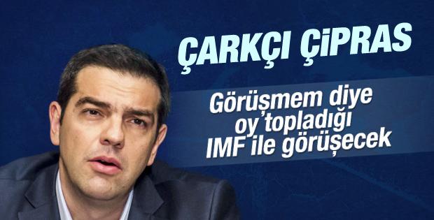 Yunan Başbakan Çipras IMF ile görüşmeye razı oldu
