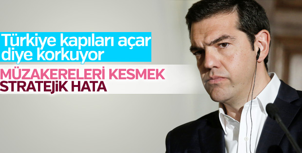 Yunanistan müzakerelerin durdurulmasını istemiyor
