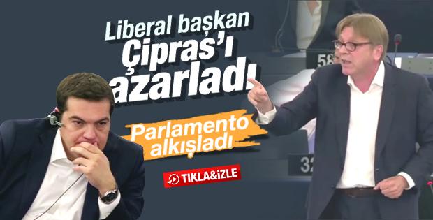 Çipras Avrupa Parlamentosu'nda azarlandı