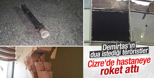 Cizre'de hastaneye roketli saldırı