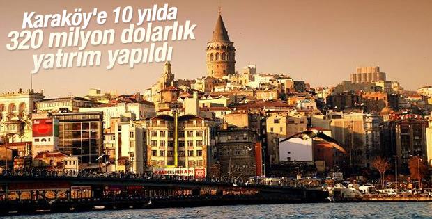 Karaköy'e 10 yılda 320 milyon dolarlık yatırım yapıldı
