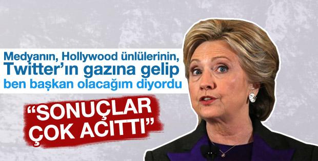 Hillary Clinton sonuçları değerlendirdi