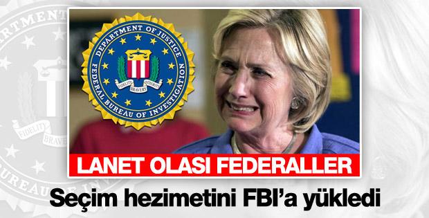 Clinton: FBI yüzünden kaybettim