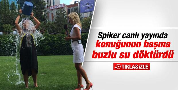 Yelda İpekli canlı yayında buzlu suyla meydan okudu