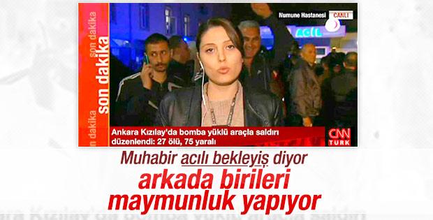 CNN Türk'te katliam haberi varken kameraya el salladı